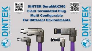 DINTEK's DuraMAX360 RJ45 Field Terminated Plug