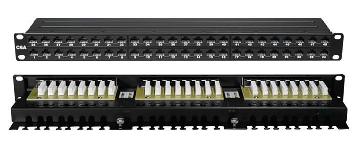cat6a patch panel 48 port